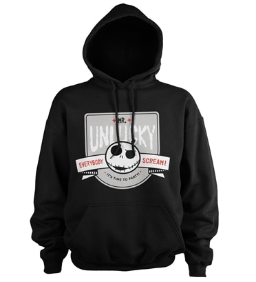 The Nightmare Before Christmas Mr Unlucky Baseball Hoodie This hoodie treats the a nightmare on elm street movie series like a band tour, with all the release dates of the movies on the back. t shirt