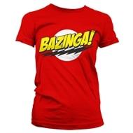online store 09e59 fc908 Bazinga Super Logo Girly Tee