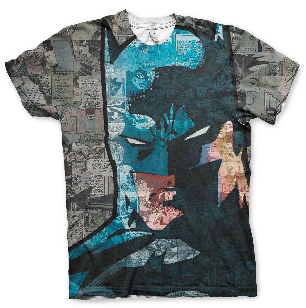 Batman Face-Up Allover T-Shirt