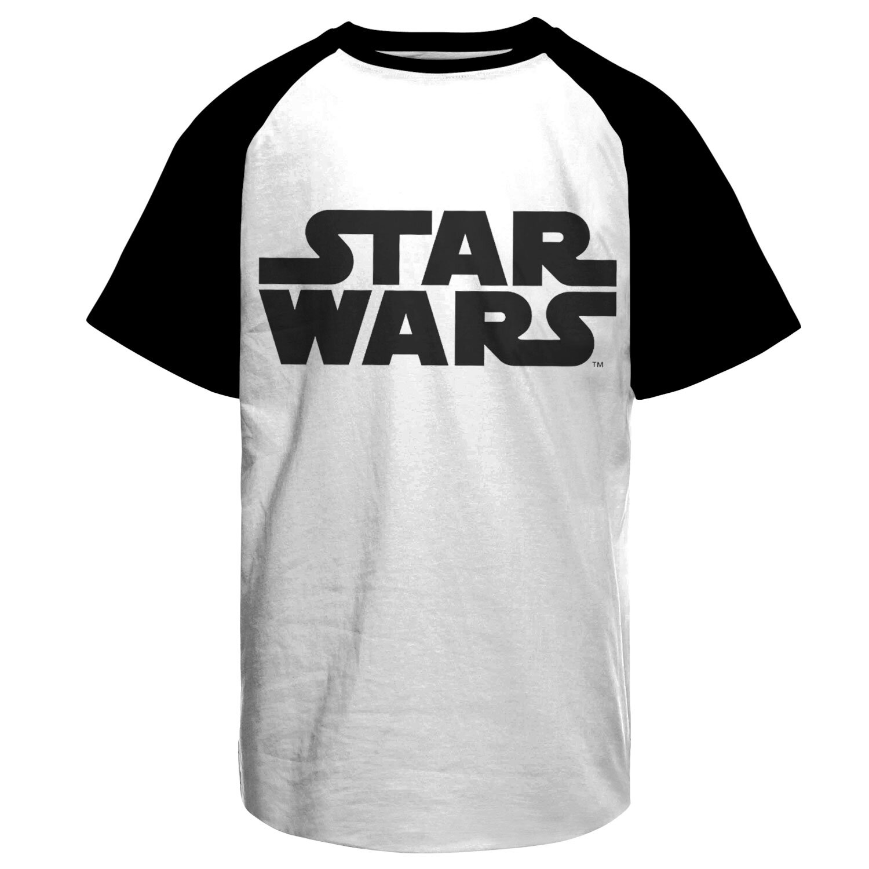 Star Wars Black Logo Baseball T-Shirt