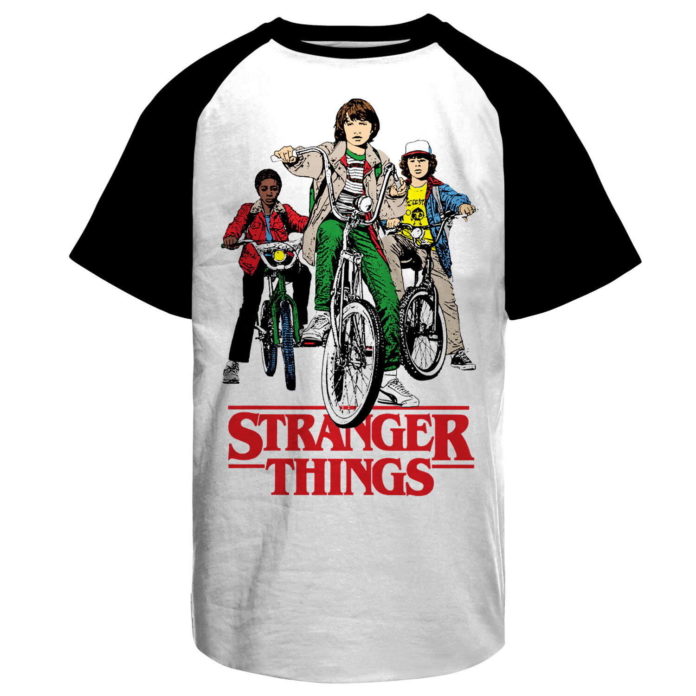 Stranger Things Bikes Baseball T-Shirt