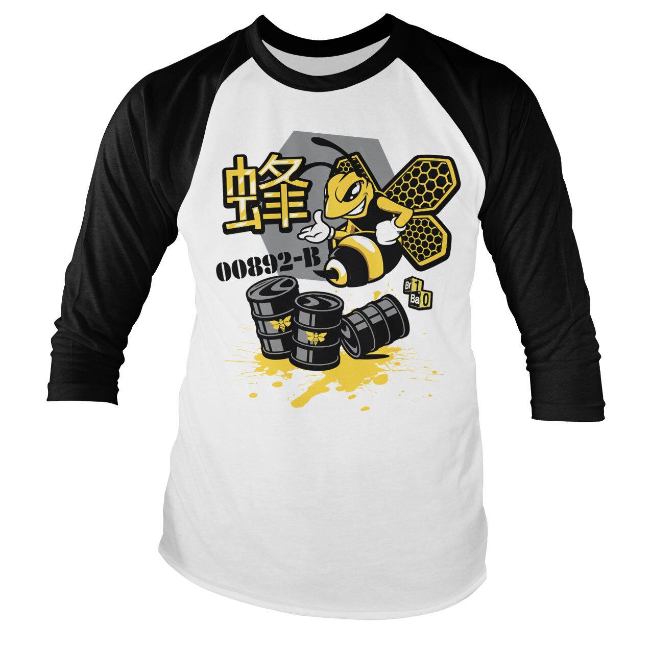 Breaking Bad Meth Bee 00892-B Baseball Long Sleeve Tee