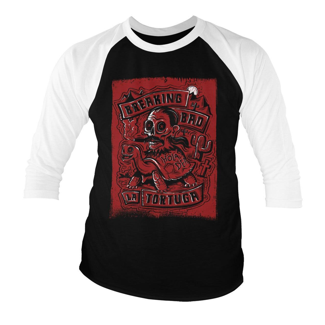 La Tortuga - Hola Death Baseball 3/4 Sleeve Tee