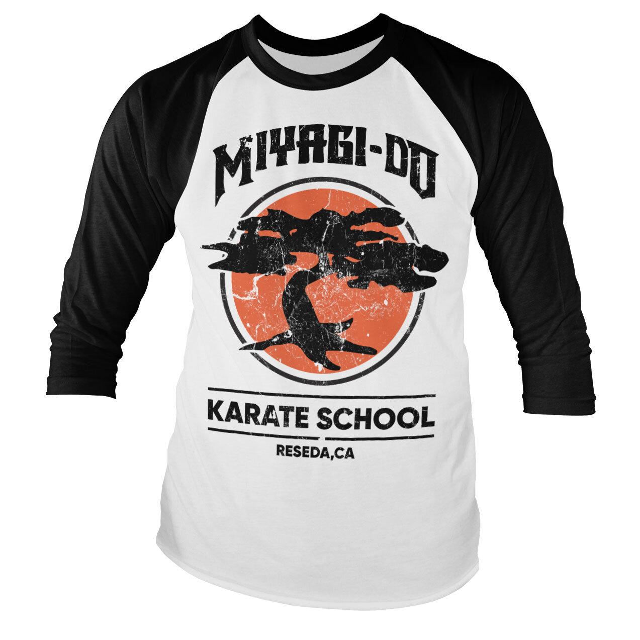 Miyagi-Do Karate School Baseball Long Sleeve Tee
