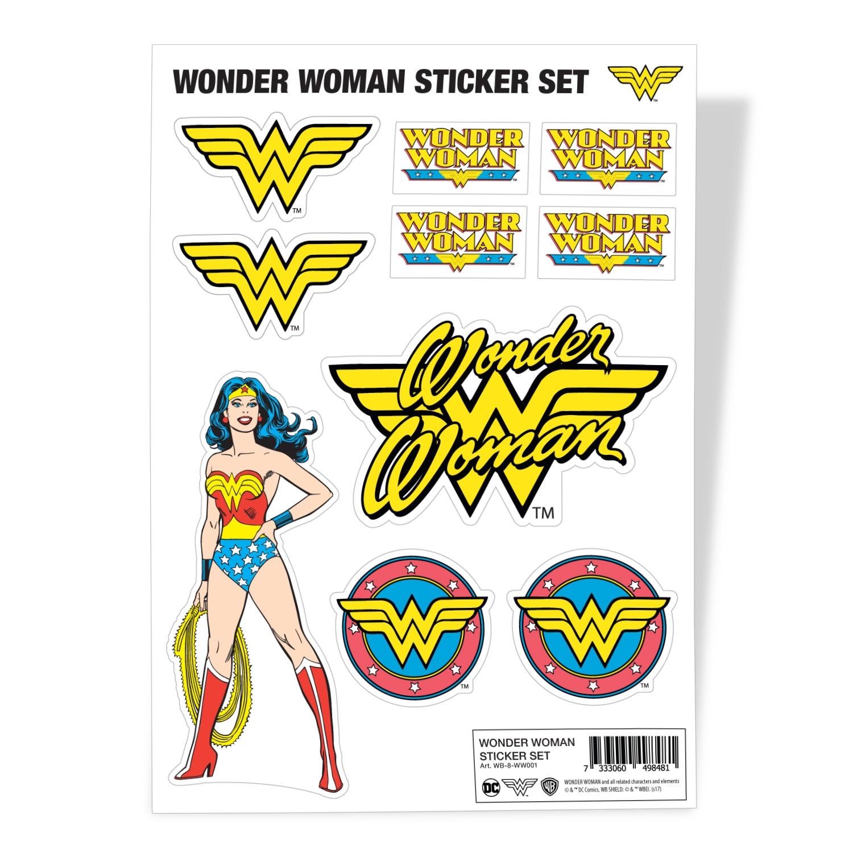 Wonder Woman Sticker Set