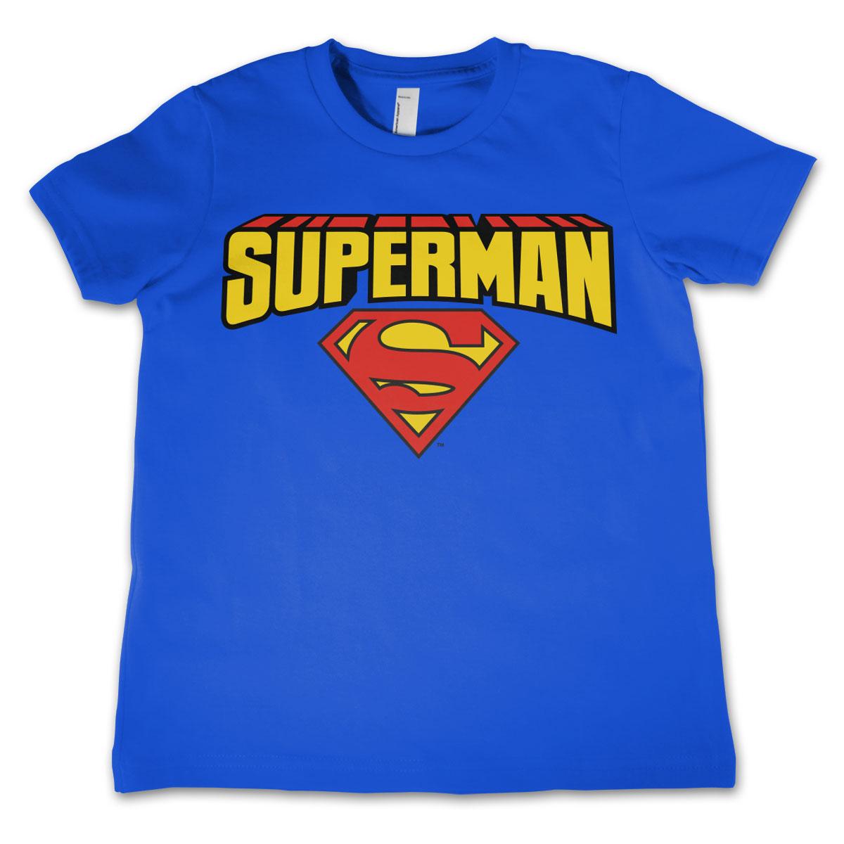 Superman Blockletter Logo Kids T-Shirt