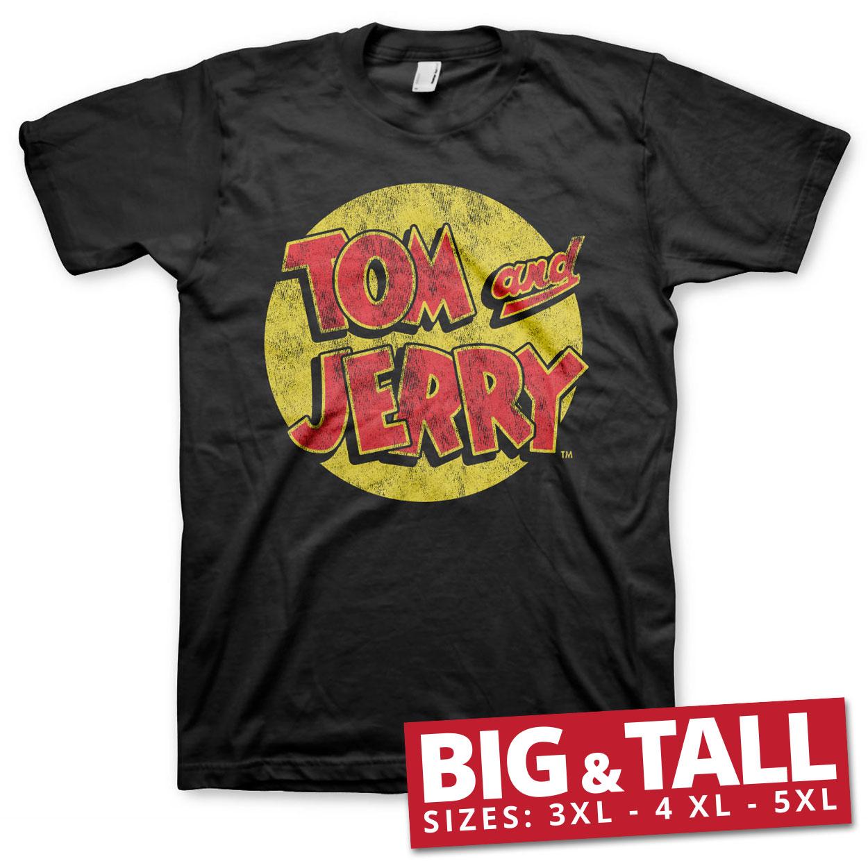 Tom & Jerry Washed Logo Big & Tall T-Shirt