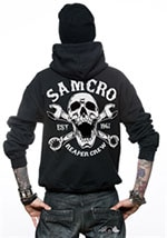 a2753cc8711 Sons Of Anarchy - SAMCRO Reaper Crew 1967 Zipped Hood